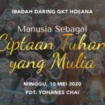 Ibadah Daring GKT Hosana, 10 Mei 2020.