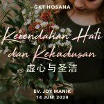 Ibadah Daring GKT Hosana, 14 Juni 2020.