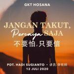 Ibadah Daring GKT Hosana, 12 Juli 2020.